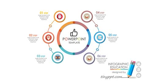 free template ppt timeline with 6 steps for powerpoint powerpoint
