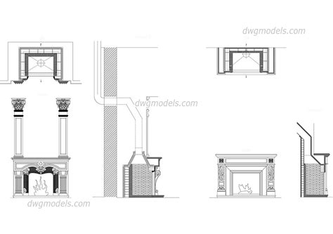 Bathroom Designers Fireplaces Dwg Free Cad Blocks Download