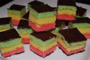 tri color cookies almond tri color cookies pastries italian rainbow venetian