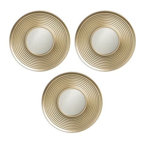 espejos modernos para salon juego de 3 espejos de pared modernos dorados para sal 243 n