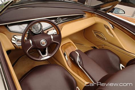 Cars With Wood Interior by Cadillac Ciel Features Italian Olive Wood Interior Trim