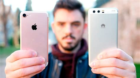 huawei p10 vs iphone 7 161 comparativa en espa 241 ol