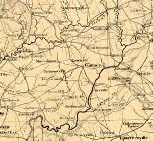 forsyth county map georgiainfo