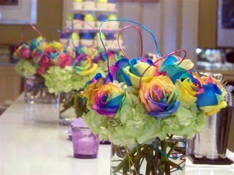 11 Best Images About Rainbow Centerpieces On Pinterest Rainbow Themed Centerpieces