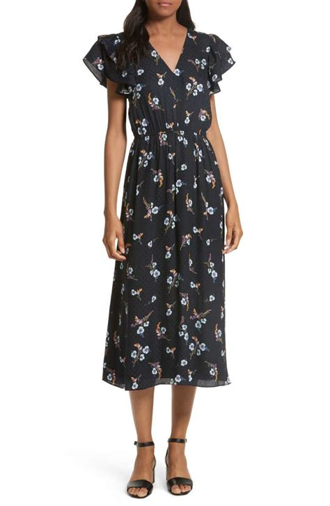 Dress And Fell Navy Floral Lace fall floral print dresses on trend for wedding guests brunch and more