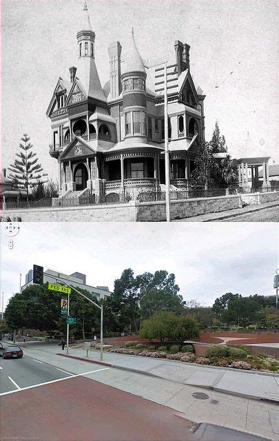 los angeles then and now using google street view los