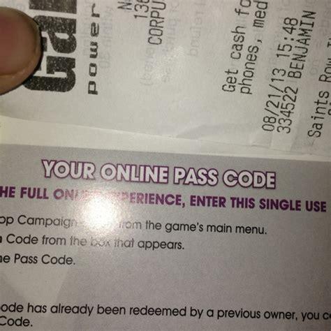 Redeem Code Xbox Pass free saints row 4 pass code xbox 360