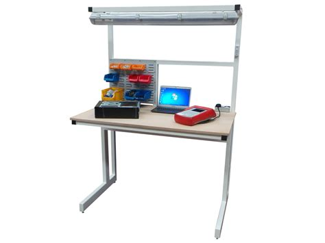 bench workstation cantilever electrical workbench 2000mm x 750mm packing