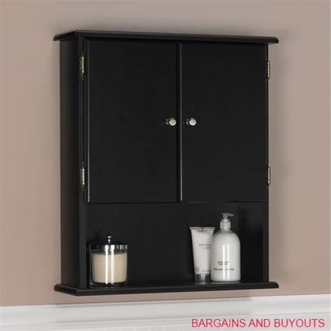 Bathroom Wall Cabinet Black by Ameriwood Bathroom Wall Cabinet Black Ebay