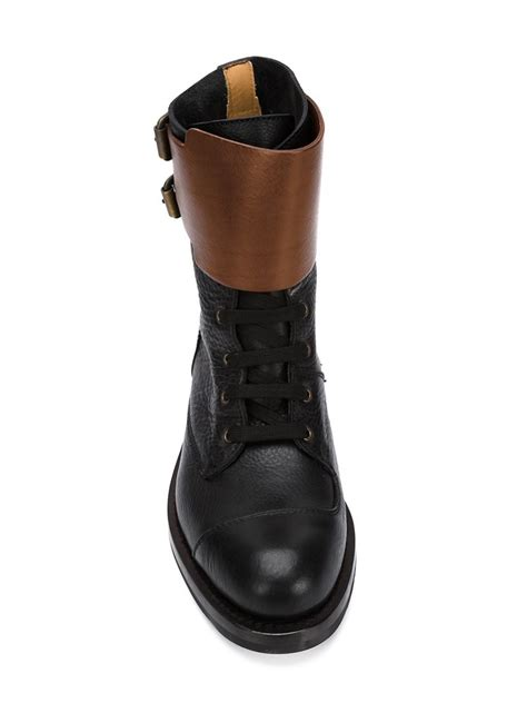 buckle boots for vivienne westwood buckle boots in black for lyst