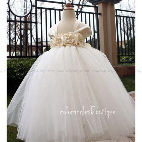 Wedding Dress Anak Tutu Blossom Merah flower dress white tutu dress baby dress toddler birthday dress wedding dress