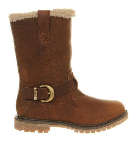 timberland nellie pull on boots in brown lyst