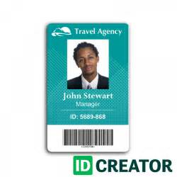 Employee Identification Card Template by Travel Agency Employee Id Card From Idcreator