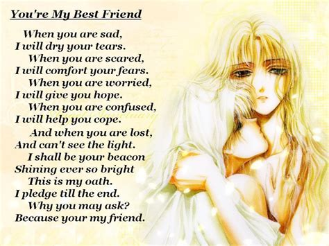 poems for your best friend tears quote