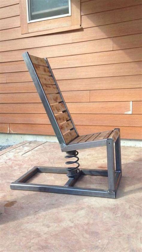 Steel Lounge Chair Design Ideas Interesting Chair Wouldn T Be To Craft Wood Projects Pinterest Craft Welding