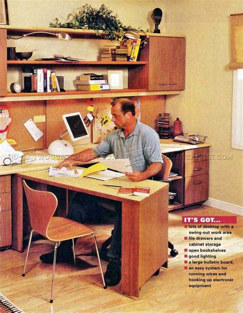 Home Office Desk Plans Home Office Furniture Plans Woodarchivist