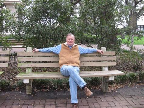forrest gump bench kenneth forrest gump sitting on park bench touching all the bases