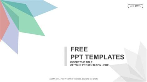 simple powerpoint template abstract background with leaves of different colors