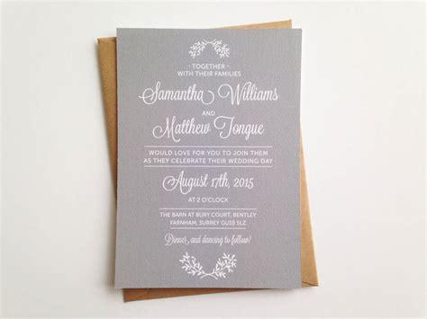 wedding day invitation day wedding invitation by pear paper co