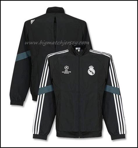 Jaket Bola Real Madrid Type A V2 Hitam jaket real madrid ucl black 2014 2015 big match jersey toko grosir dan eceran jersey grade