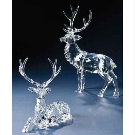 clear acrylic reindeer figurines google search