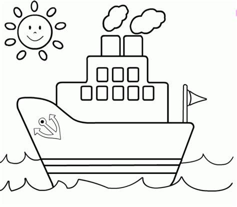 barcos sencillos para colorear dibujo de barco para colorear hojas de aplicacion