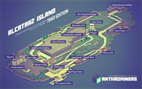 Apartment Blueprints Alcatraz Island 1960 Edition Minecraft Project