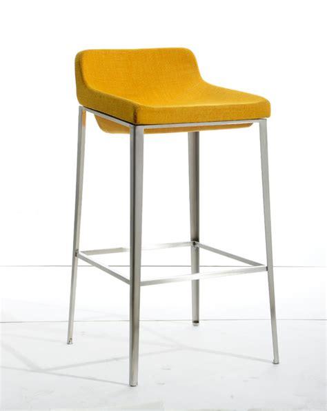 Yellow Fabric Bar Stools modrest adhil modern yellow fabric bar stool
