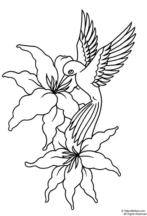 free design tattoo flower stencils printable your free printable