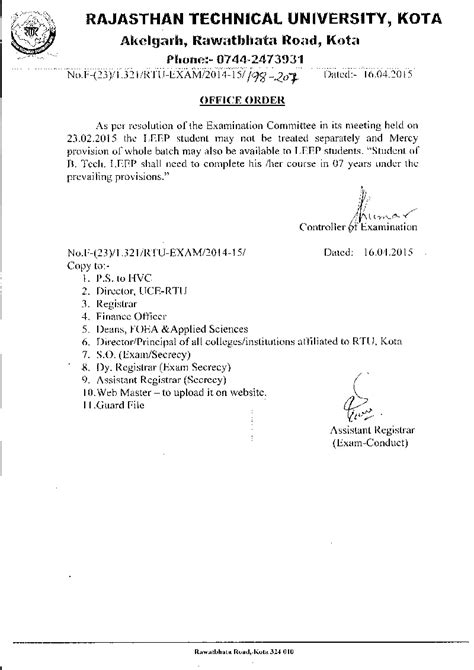 Permission Letter Of Bcom Year 82 Permission Letter Of Kota Letter Sle