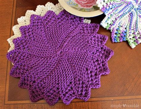 knitting circle pattern knitted dish cloths simply notable