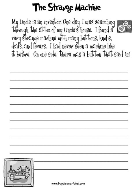 printable writing worksheets for grade 4 fun creative writing prompts with worksheets homeschool