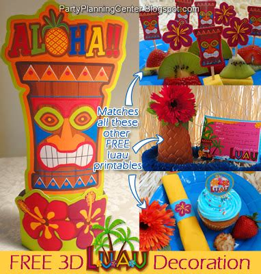 free printable luau party decorations time to party free birthday party printables galore