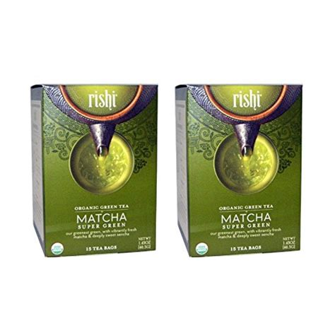Supergreen 7 Sachets herbal rishi tea organic matcha green tea 15 bags pack of 2 ebay
