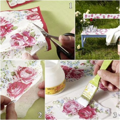 Decoupage Diy - decoupage furniture diy tutorial