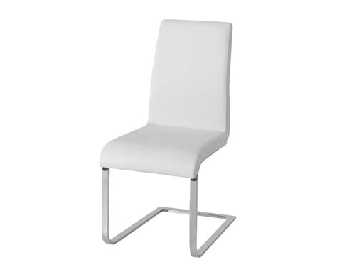White Faux Leather Dining Chairs Barletto White Faux Leather Dining Chairs