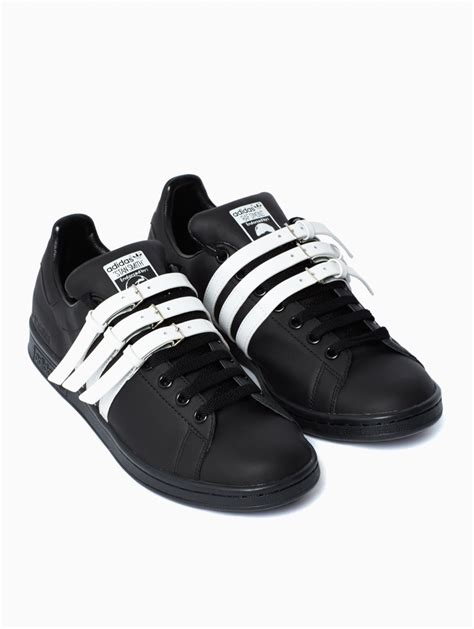 adidas by raf simons stan smith sneakers in black for lyst
