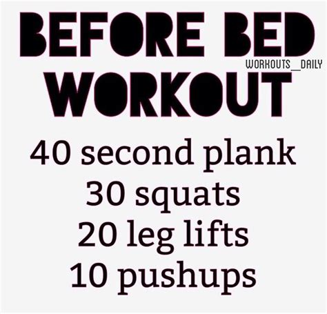 exercises before bed best 25 before bed workout ideas on pinterest bed workout in bed workout and