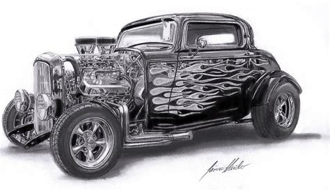 old cars drawings old rod art 32 ford rod by lowrider