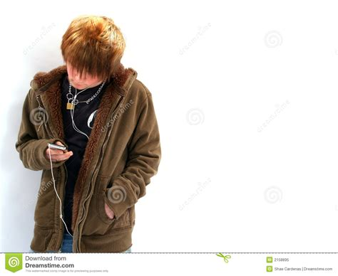 Boy Mp3 boy with mp3 player royalty free stock photo image