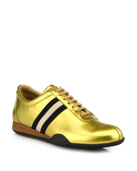 bally sneakers sale bally freenew sneakers in gold for lyst