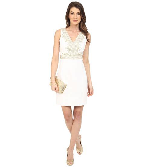 Aveline Dress 1 lyst lilly pulitzer aveline shift dress in white