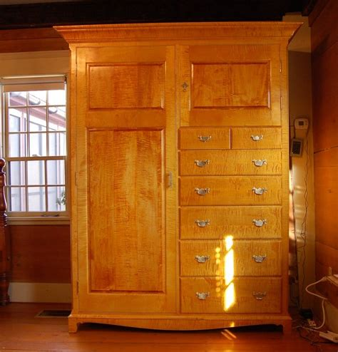 maple armoire curly maple armoire traditional boston by new