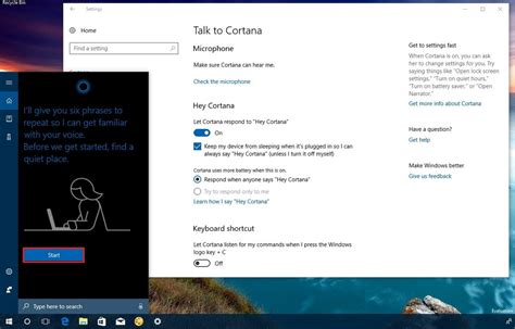 cortana learn my voice in windows 10 windows 10 tutorials how to configure cortana to respond only to your voice on