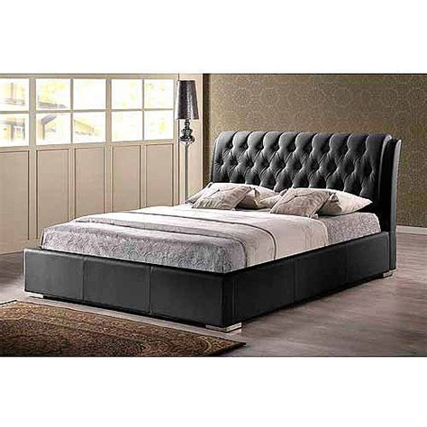 baxton studio bianca white modern bed with tufted headboard baxton studio bianca queen modern bed with tufted