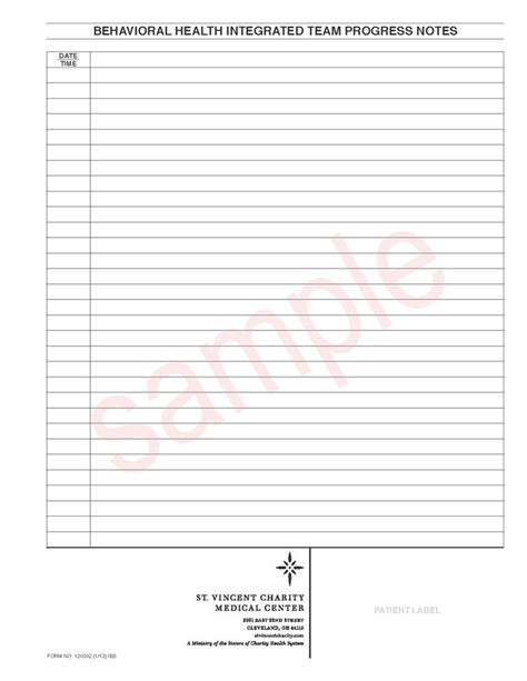 mental health progress note template 120302 behavioral health progress note
