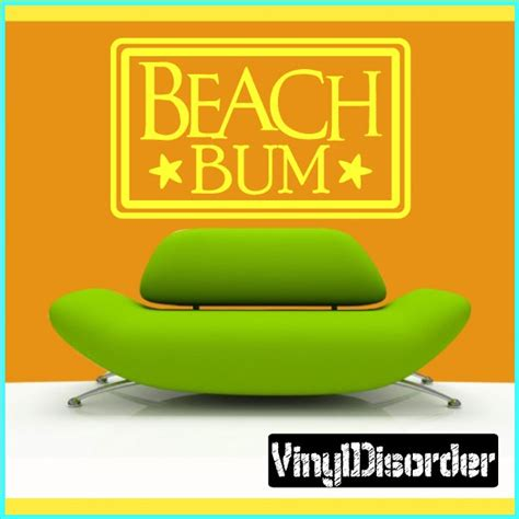 Wall Mural Beach beach bum summer holiday vinyl wall decal mural quotes