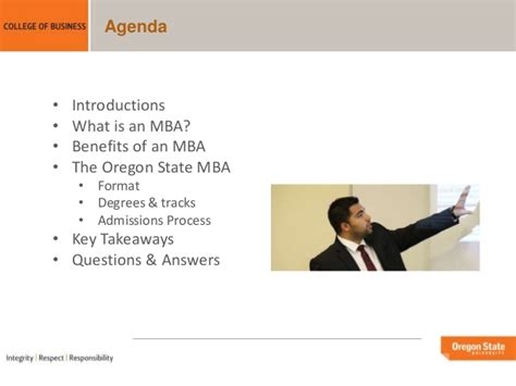 Oregon Mba Questions by Oregon State Mba Overview