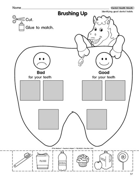 Dental Health Worksheets by Ultimate List Of Dental Health Activities For The Classroom