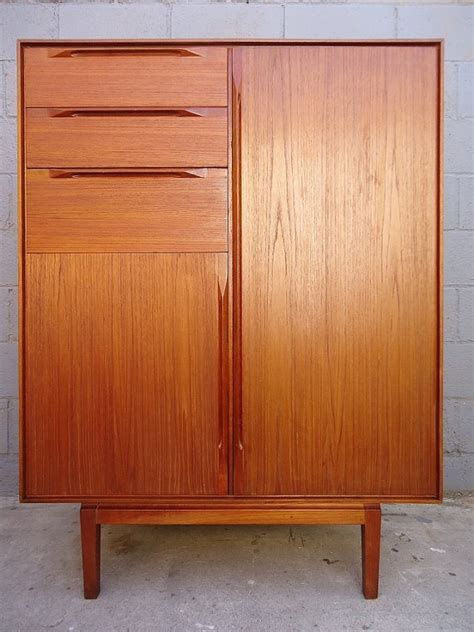 modern armoires rare mid century danish modern teak chest of drawers armoire ib kofod
